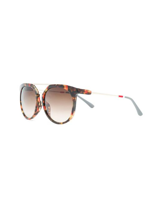 cf4c1e4ecc ... Orlebar Brown - Brown X Linda Farrow Round-frame Sunglasses for Men -  Lyst ...
