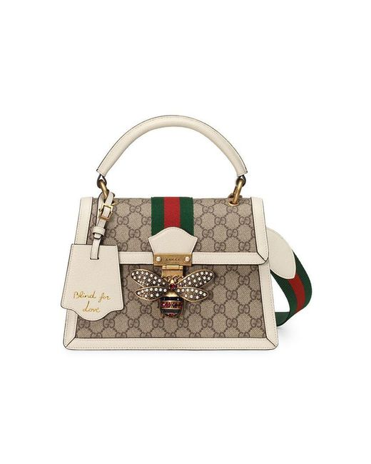 181d6d32bf9e Gucci - Multicolor Queen Margaret Small GG Top Handle Bag - Lyst ...