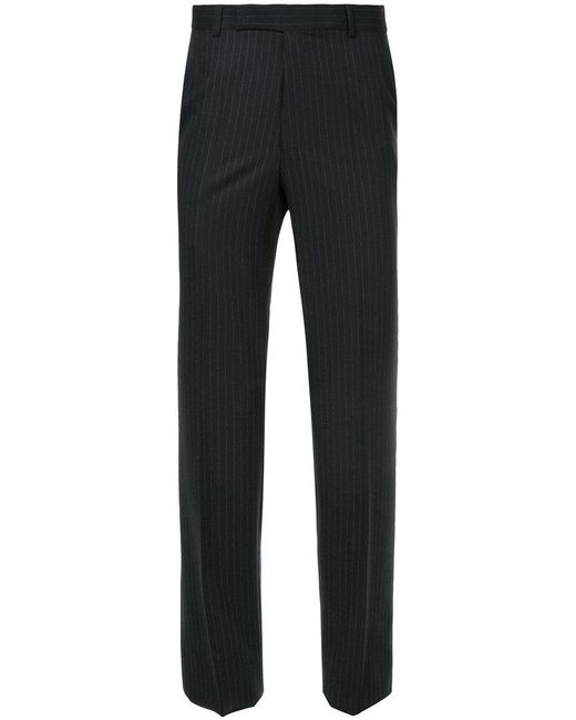 Gieves & Hawkes - Black Pinstripe Skinny Trousers for Men - Lyst