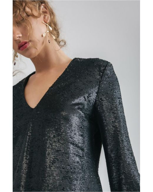 C/meo Collective - Black Illuminated Long Sleeve Top - Lyst