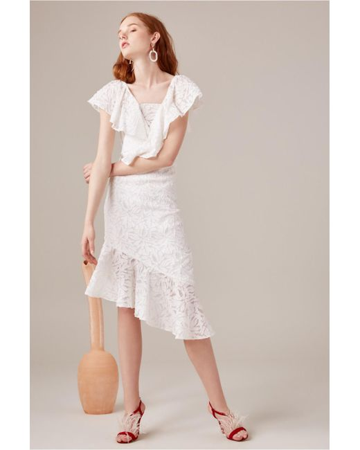 C/meo Collective - White More To Give Midi Dress - Lyst