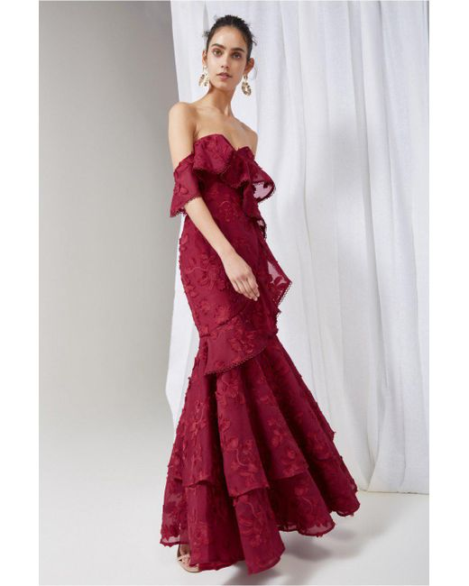 Keepsake - Red Shine Gown - Lyst