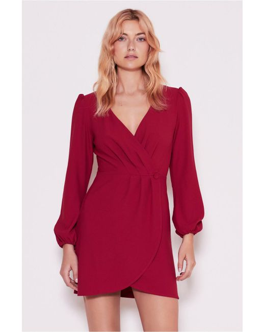 The Fifth Label - Red Chemistry Long Sleeve Wrap Dress - Lyst