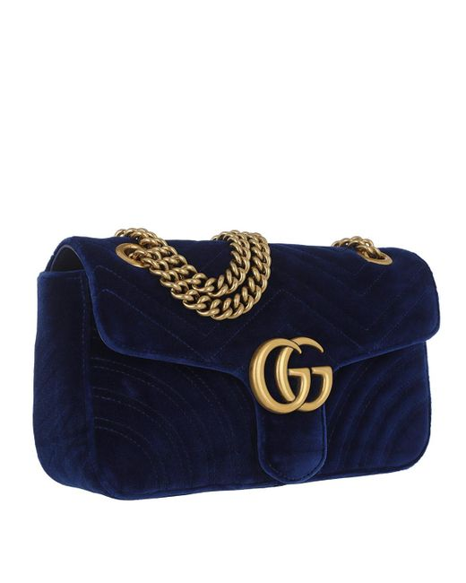 546119aa6b0e95 Gucci GG Marmont Medium Quilted Shoulder Bag in Blue - Save 20% - Lyst