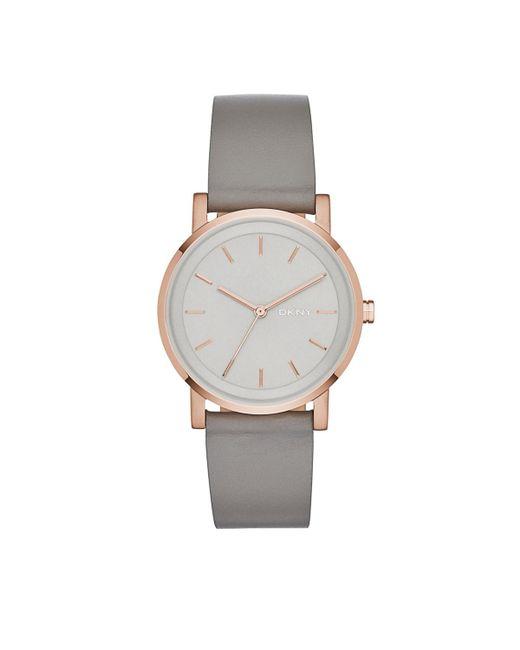 DKNY - Gray Ny2341 Soho Round Watch Grey - Lyst
