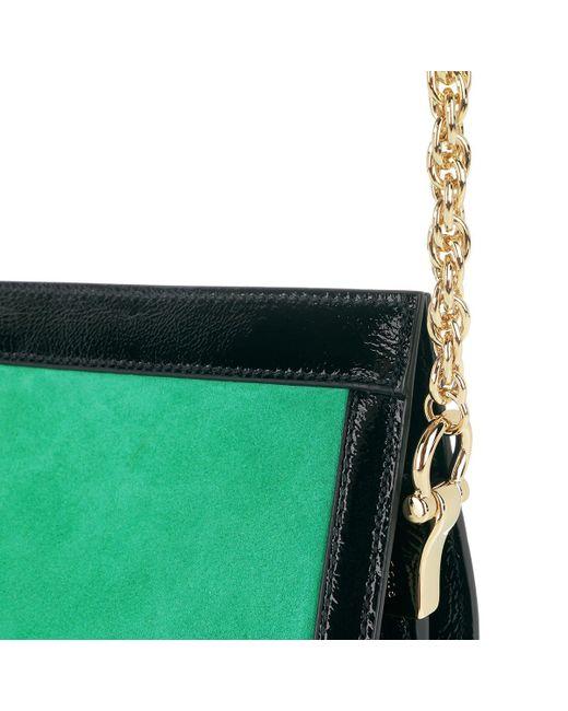Gucci Dragoni Shoulder Bag Leather Green in Green - Lyst 7431b2238f3b7
