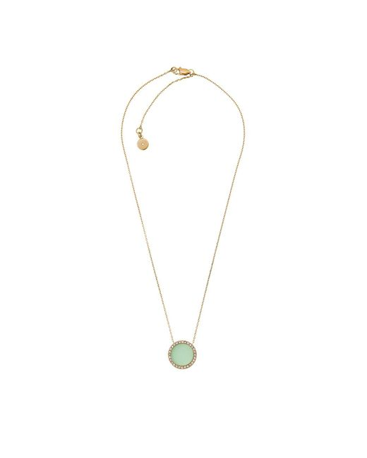 Michael Kors   Metallic Pavé Gold Necklace Mint   Lyst