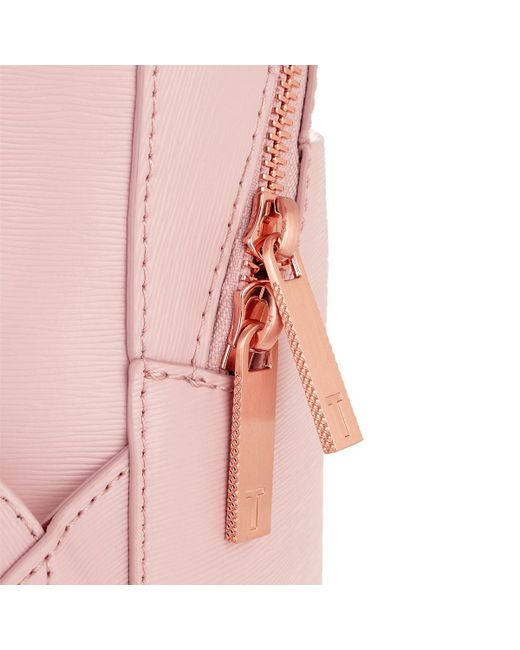 b6dded266 ... Ted Baker - Jenyy Faceted Bow Detail Backpack Light Pink - Lyst ...