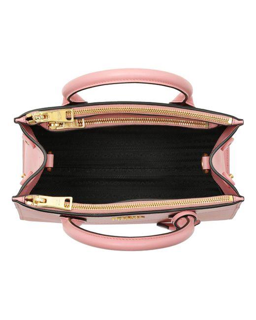d63513efae ... promo code prada pink saffiano city tote petalo lyst 1f6b2 c32d0  cheapest prada vitello daino double compartment leather shoulder bag ...