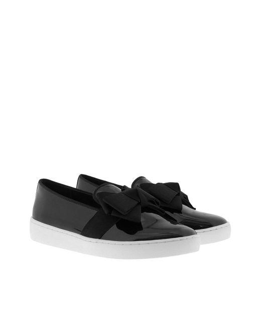 Michael Kors | Val Slipper Patent Leather Black | Lyst