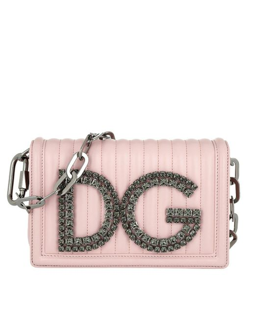 870d36f8bc36 Dolce   Gabbana Dg Girls Crossbody Bag Leather Pink in Pink - Save ...