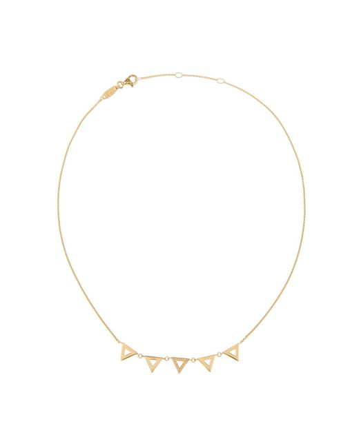 Thomas Sabo - Metallic Glam And Soul Necklace Sterling Silver Collier Triangles Gold - Lyst