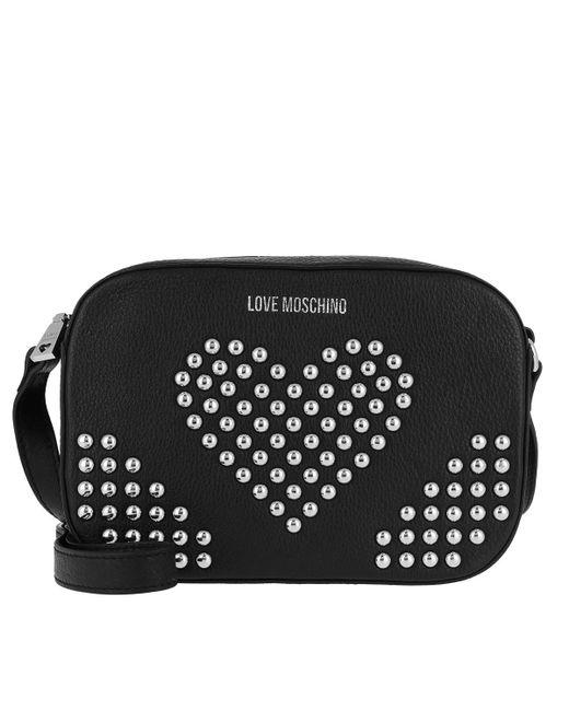 c40b5c2f3c57 Love Moschino - Black Vitello Grain Crossbody Bag Nero - Lyst ...