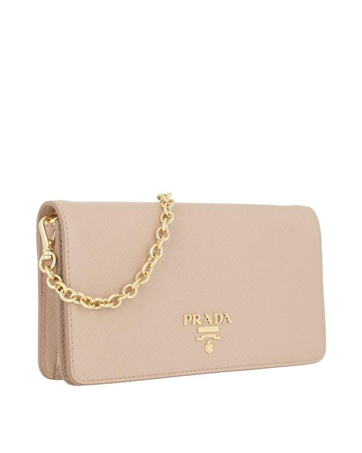 5487018410ce Prada Core Saffiano Leather Wallet On Chain - The Best Wallet Produck