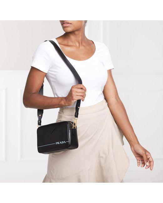 438d02bee45337 Prada Mirage Leather Crossbody Bag Nero in Black - Save 46% - Lyst