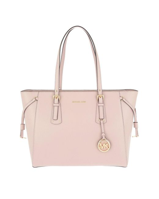 Michael Kors - Voyager Md Multifunctional Tz Tote Soft Pink - Lyst