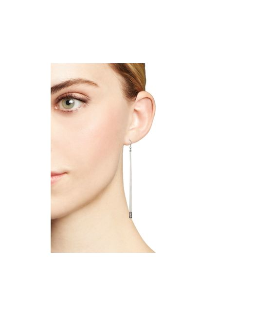 Ippolita | Metallic Sterling Silver Glamazon® Stardust Linear Earrings With Diamonds | Lyst