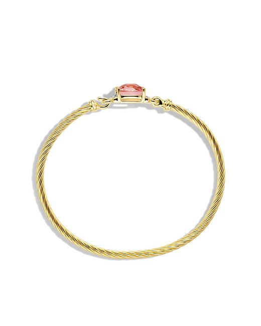 David Yurman | Yellow Petite Wheaton Bracelet With Morganite And Diamonds In Gold | Lyst