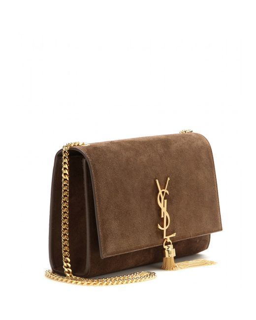 acabe8c734 Saint Laurent Classic Small Monogram Suede Shoulder Bag