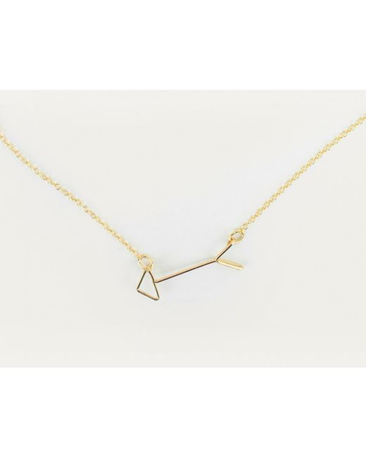 By Philippe | Metallic Cupid Arrow Necklace | Lyst