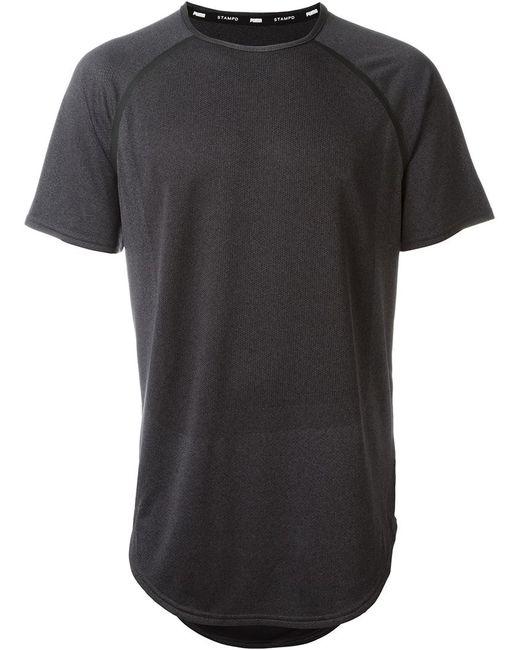 Puma X Stampd 39 Raglan Sleeve 39 Round Neck T Shirt In Black
