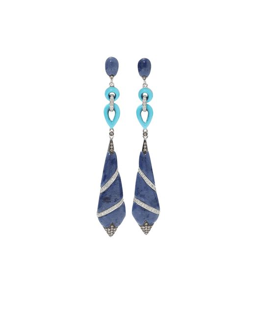 Wendy Yue | Blue Lapis And Turquoise Earrings | Lyst