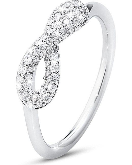 Georg Jensen | Metallic Infinity Sterling Silver And Diamond Ring | Lyst