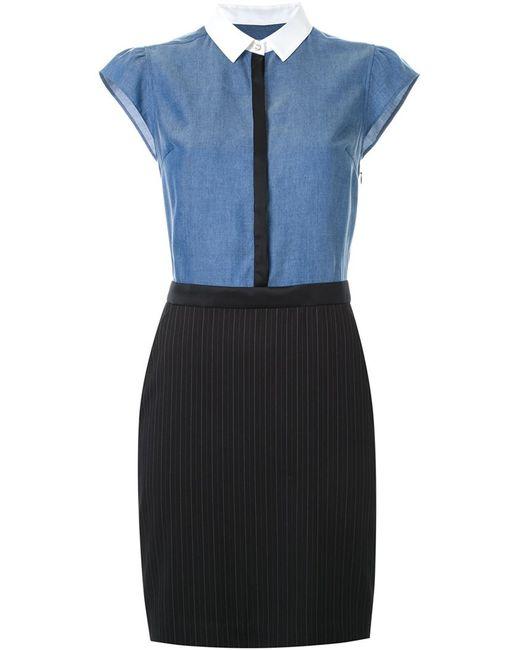 guild prime pencil skirt shirt dress in blue lyst