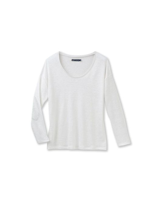 Petit Bateau | White Women's Long-sleeved Lacquered Linen Tee | Lyst