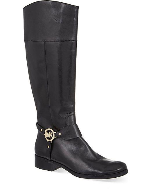 michael michael kors fulton knee high boots in black
