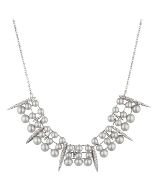 Alexis Bittar | Metallic Articulating Pearl Spear Bib Necklace You Might Also Like | Lyst