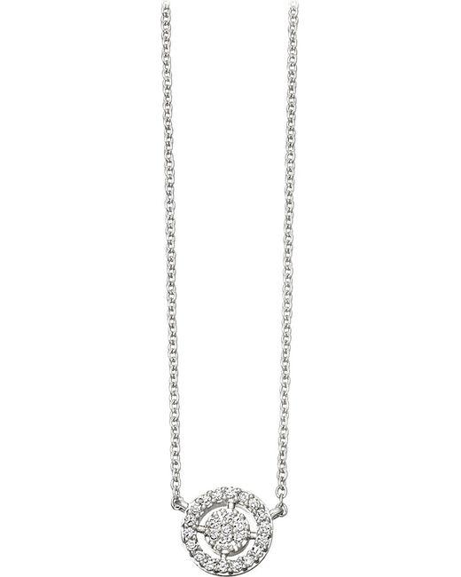 Astley Clarke | Metallic Mini Icon Aura 14ct White-gold And Diamond Pendant Necklace | Lyst