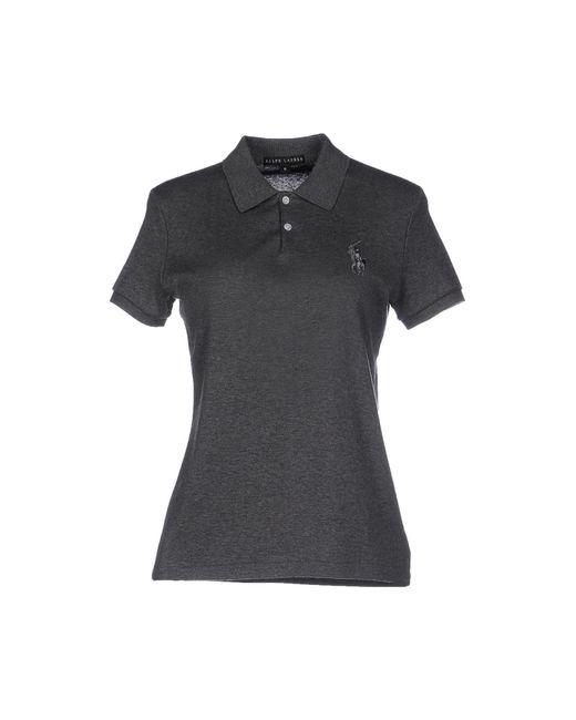 Ralph lauren black label polo shirt in gray lead save for Ralph lauren black label polo shirt