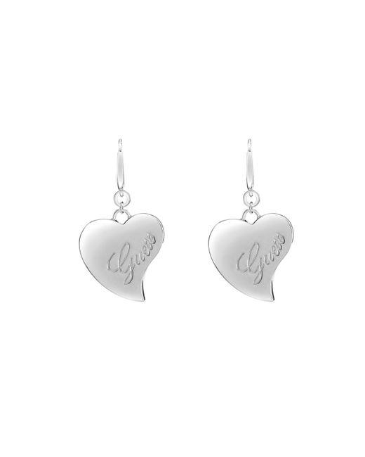 Guess | Metallic Love Drop Earrings | Lyst