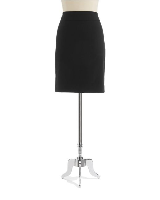 Anne Klein | Black Yoke Pencil Skirt | Lyst