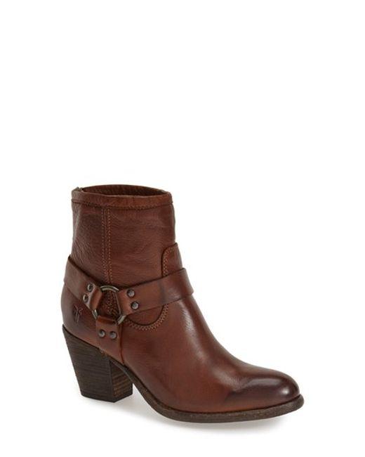 Frye | Brown 'tabitha Harness' Short Boot | Lyst