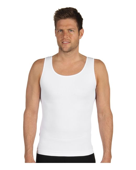 Spanx | White Zoned Performance Tank for Men | Lyst