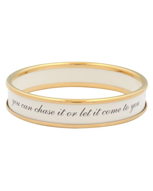 Halcyon Days | Metallic Life Is Like A Butterfly Gold Plated Enamel Bangle | Lyst