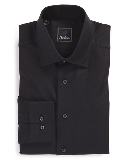 David Donahue Regular Fit Royal Oxford Dress Shirt In