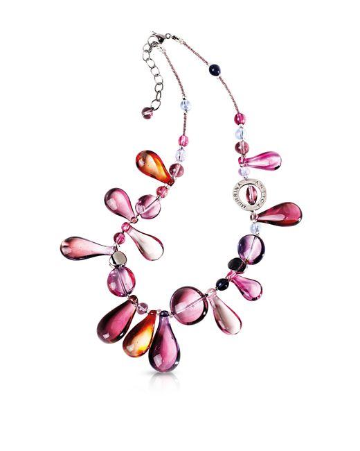 Antica murrina Lapilli Murano Glass Necklace in Pink | Lyst