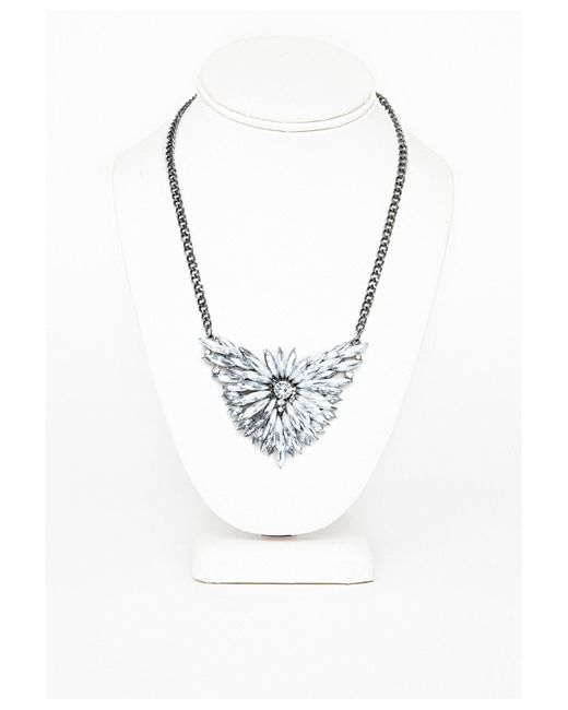 Missguided   Metallic Silver Coin Pendant Necklace   Lyst
