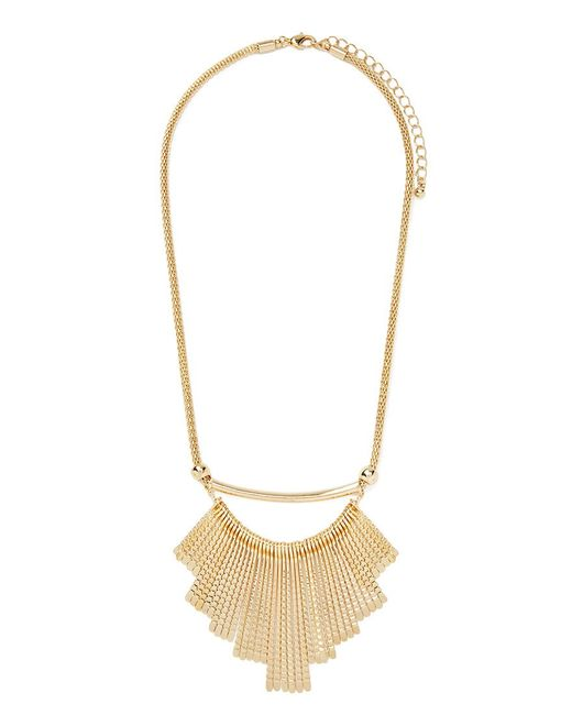 Forever 21 | Metallic Matchstick Fan Necklace | Lyst