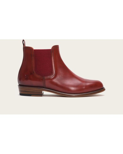 Frye | Red Dorado Leather Chelsea Boots | Lyst