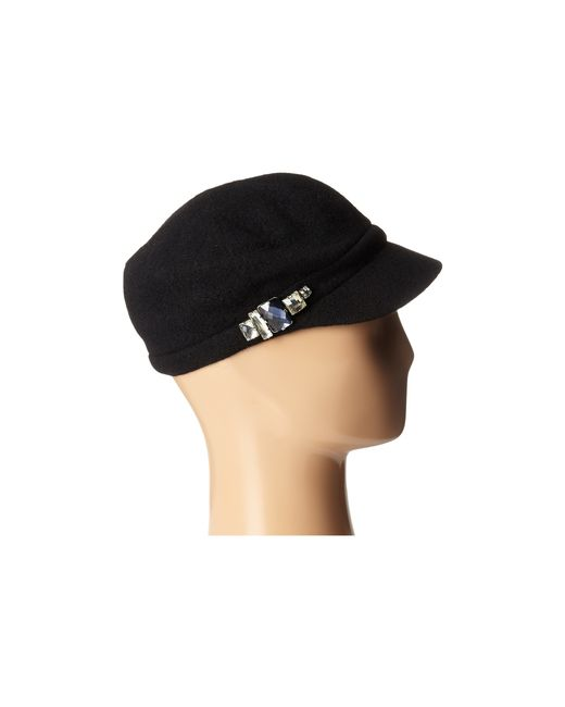 San Diego Hat Company | Black Sdh5016 Wool Cabby With Faux Jewel Trim | Lyst