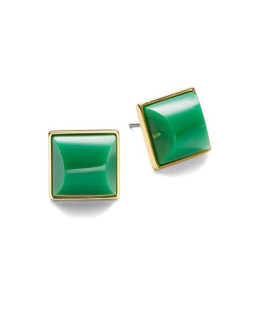 Trina Turk | Green Geo Stud Earrings | Lyst
