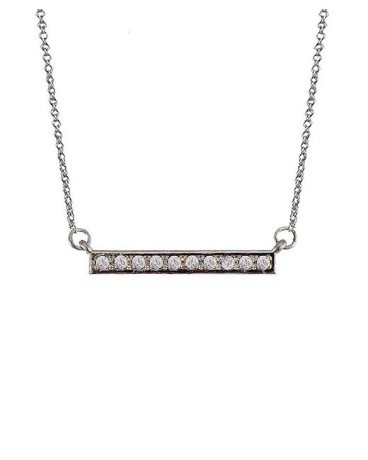 Adornia | Metallic Diamond And Sterling Silver Barra Bar Necklace | Lyst