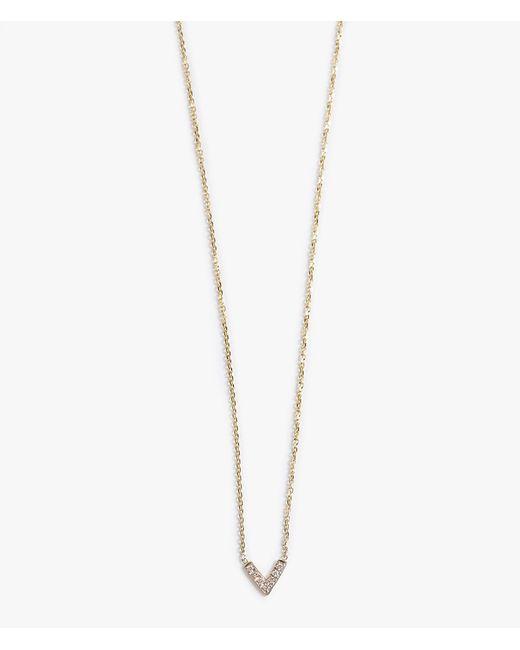 Jennie Kwon | Metallic Diamond V Necklace | Lyst