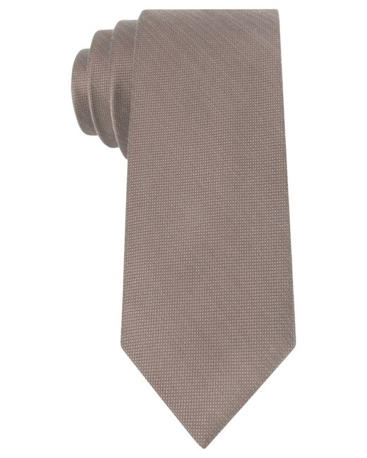 Michael Kors | Brown Michael Luxe Variation Solid Slim Tie for Men | Lyst