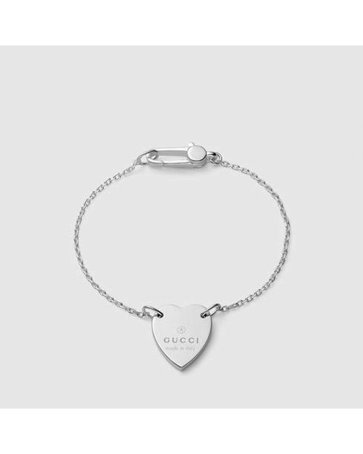 Gucci | Metallic Bracelet With Trademark Heart | Lyst
