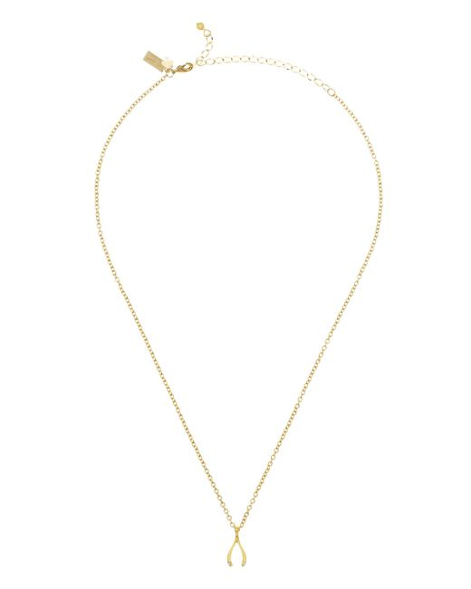 Kate Spade | Metallic Dainty Sparklers Wishbone Pendant | Lyst